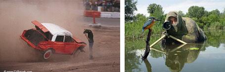 عکاسان جسور و شجاع در حال گرفتن عکس